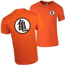 Turtle Chinese Training Symbol Orange T-Shirt Dragon Inspired Anime Fan Gift Top